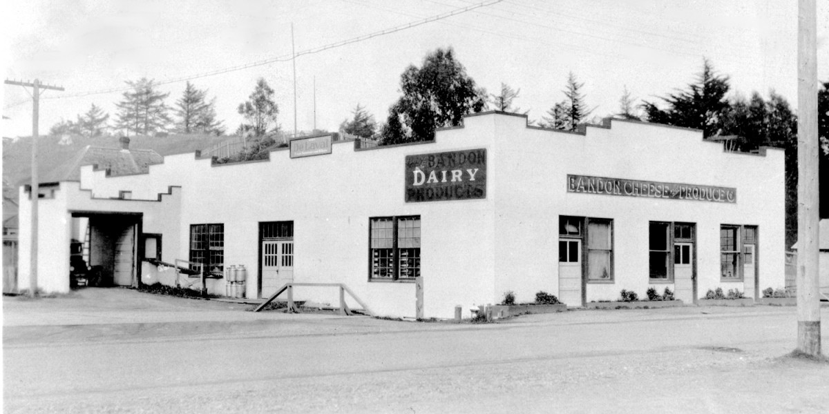 cheese factory, historic photo, Bandon, Oregon