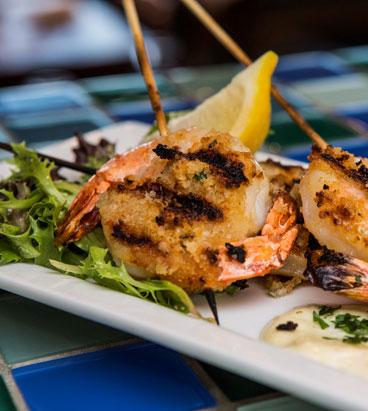shrimp, Edgewaters Restaurant, Bandon dining