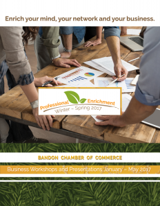 brochure cover, Bandon Chamber Professional Enrichment 2017