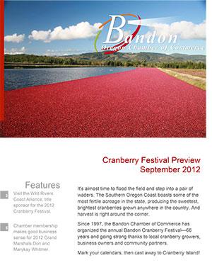 Bandon Chamber of Commerce newsletter Sept 2012