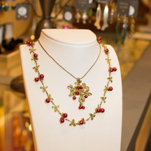 cranberry jewelry, Michael Michaud, Second Street Gallery