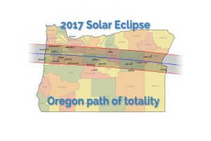 oregon map, solar eclipse path