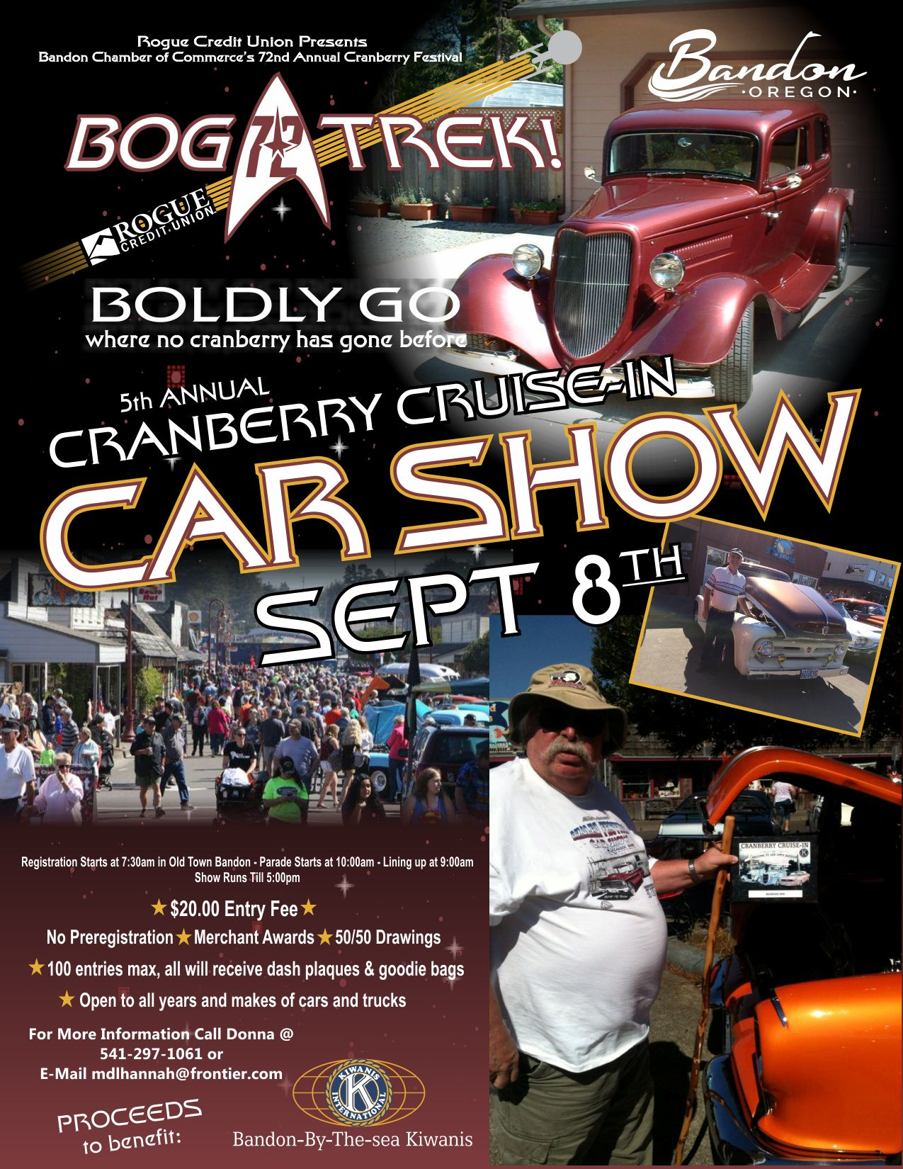 Bandon Cranberry Festival Events - Old town car show 2018