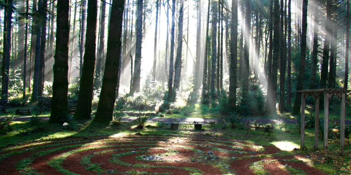 labyrinth, Wildspring Guest Habitat, Port Orford, Oregon