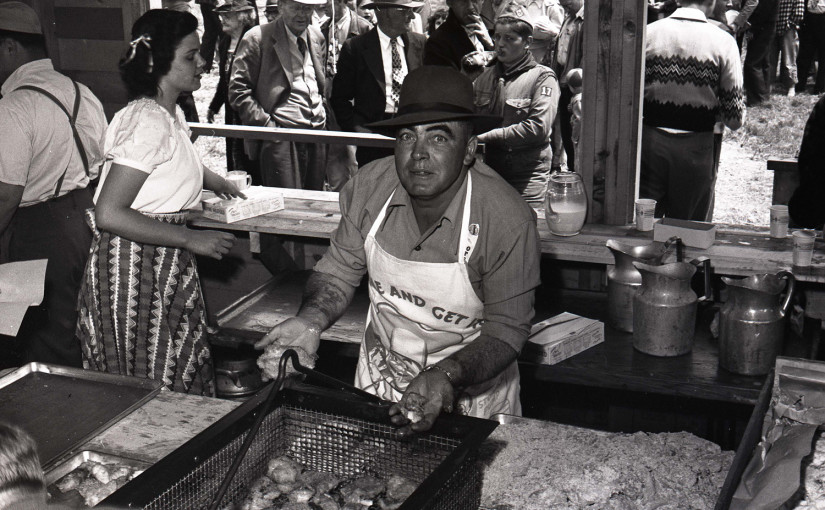 fish fry, historic photo, Bandon, Oregon