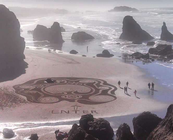 beach labyrinth bluff view bandon taylor