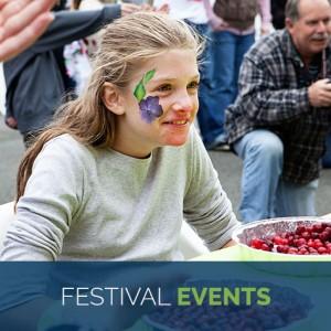 girl enjoying bandon cranberry festival events