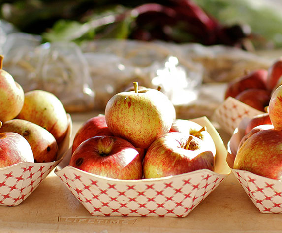 locally harvested apples, Bandon, Oregon