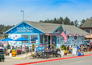 bikes at bandon fish market bandon oregon