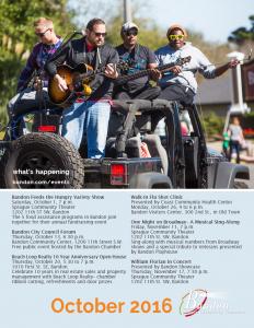 cover image, Bandon Chamber newsletter Oct. 2016