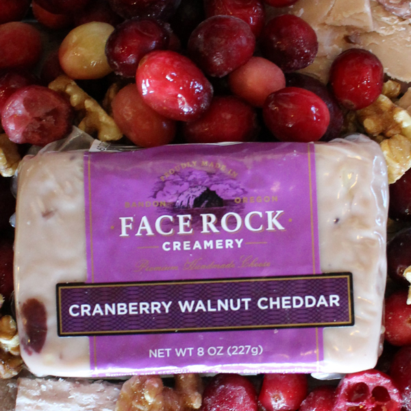 cranberry walnut cheddar cheese, Face Rock Creamery, Bandon dining, specialty foods