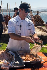 outdoor salmon bake, Chef Chris Foltz, The Mill, Oregon Coast dining