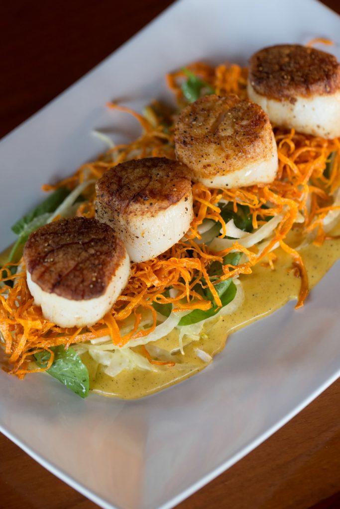 Scallops, The Loft Restaurant, Bandon dining