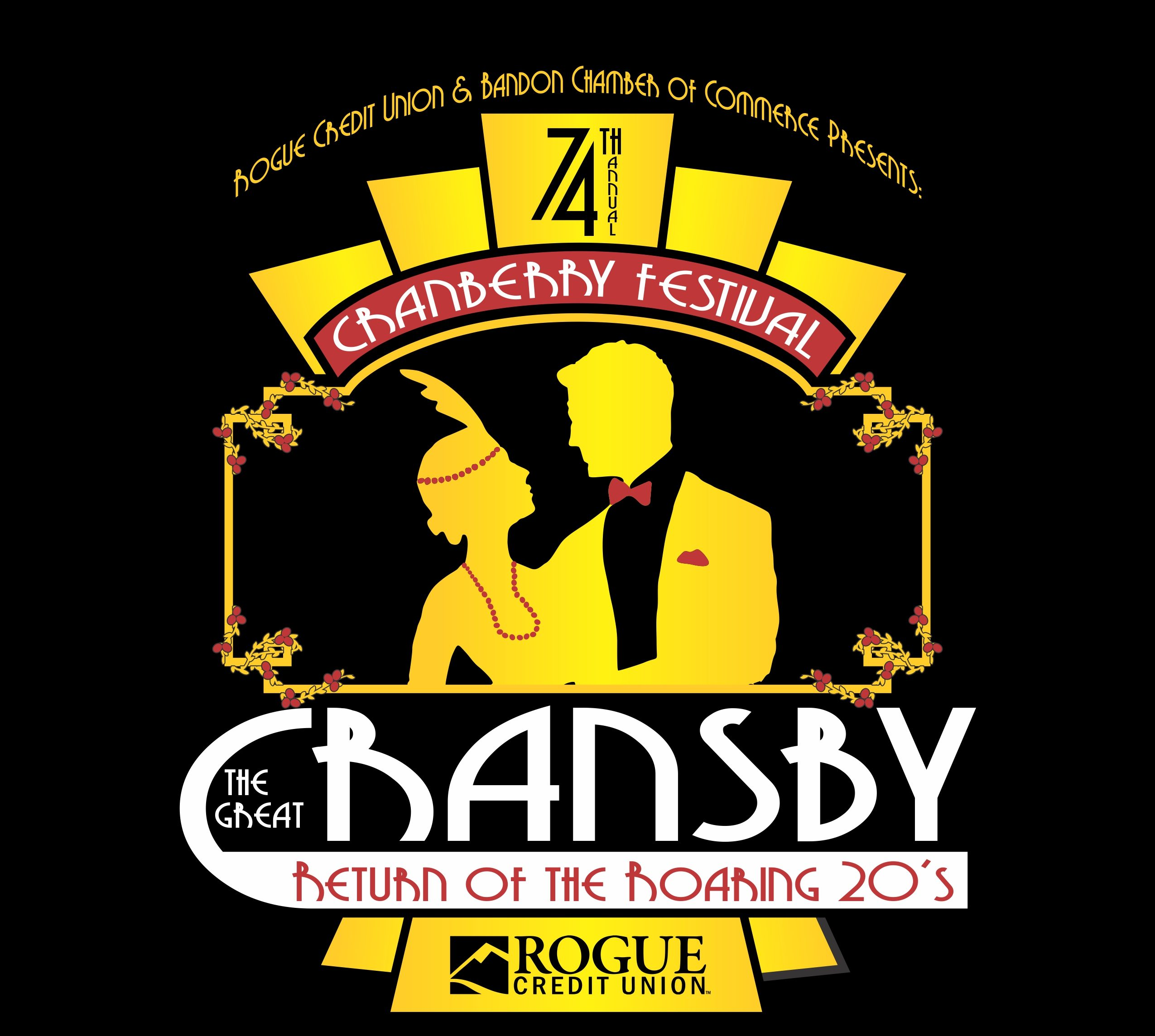 74th Annual Bandon Cranberry Festival - The Great Cransby, Return of the Roaring 20's. Sponsored by Rogue Credit Union